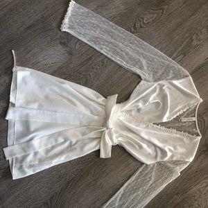 Silk and Lace Bridal Robe